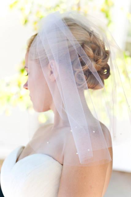 Velo da sposa con perle
