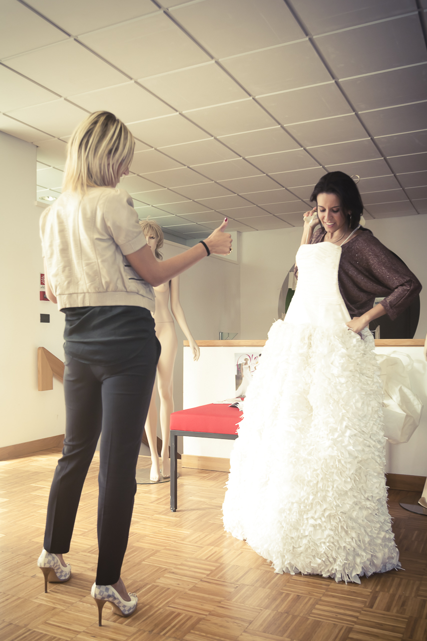 Consulenza dell'abito da sposa...