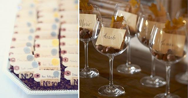 Idee originali per un matrimonio dal tema vino glam events - Idee originali per segnaposto matrimonio ...