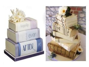 Wedding cake tema libro