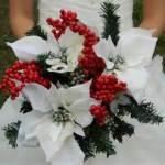 bouquet bacche e stelle di natale