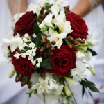 bouquet bianco rosso glam events 1