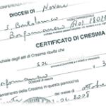 certificato di cresima