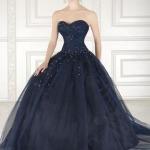 abito sposa blu