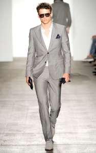 abito grigio