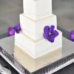 torta nuziale viola